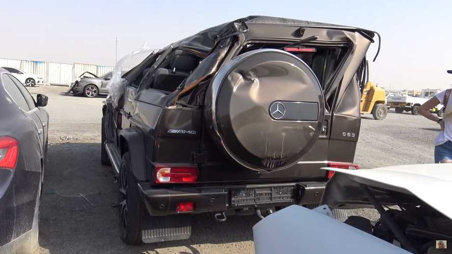 Giant scrapyard in Dubai is full of high-end cars