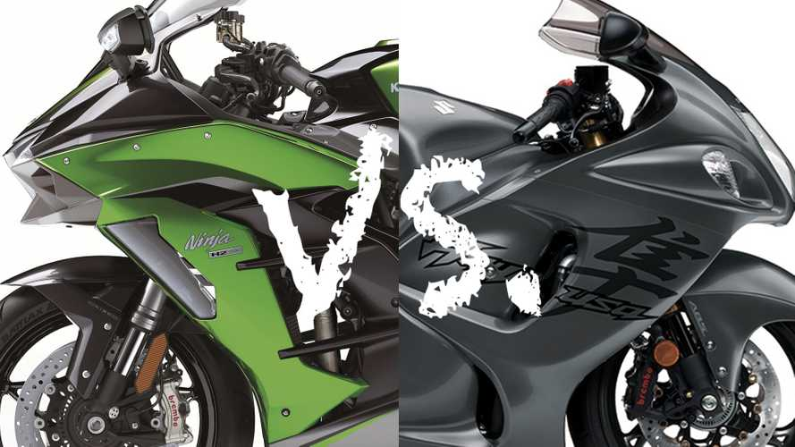 Spec Showdown: Kawasaki Ninja H2 Vs. Suzuki Hayabusa