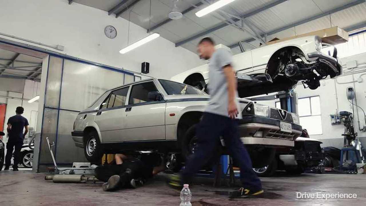 Watch: Barn find Alfa Romeo 75 transformed into Group N car