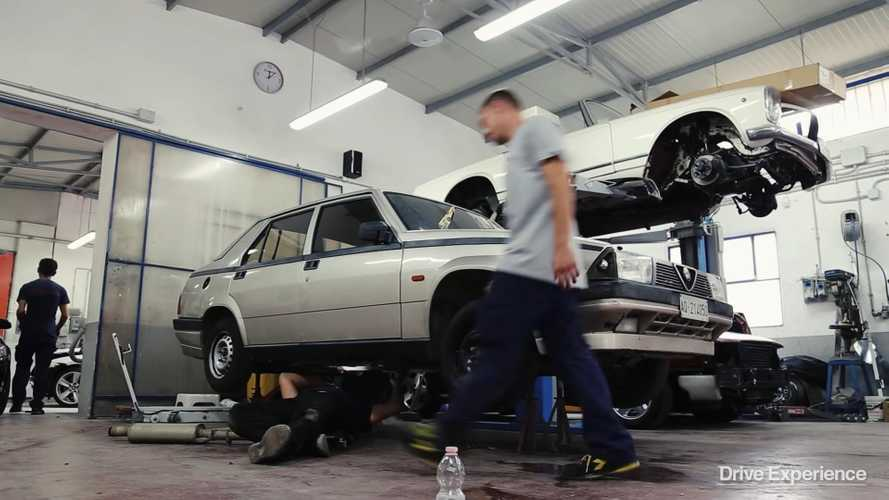 Watch: Barn find Alfa Romeo 75 transformed into Group N car