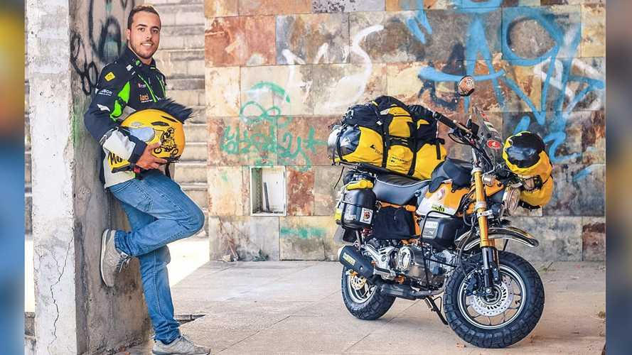 Dude Will Travel 37,000 Miles Around The World On A Honda Monkey