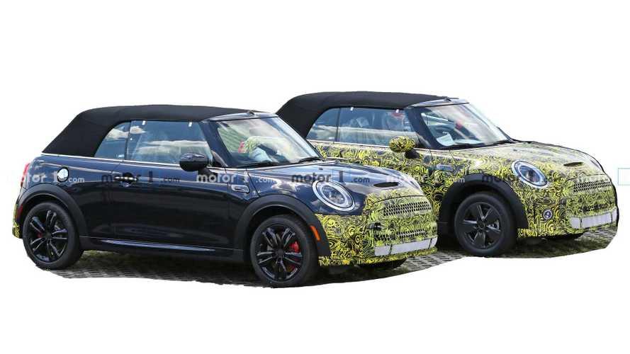 Mini Cooper Convertible spied hiding its mild facelift