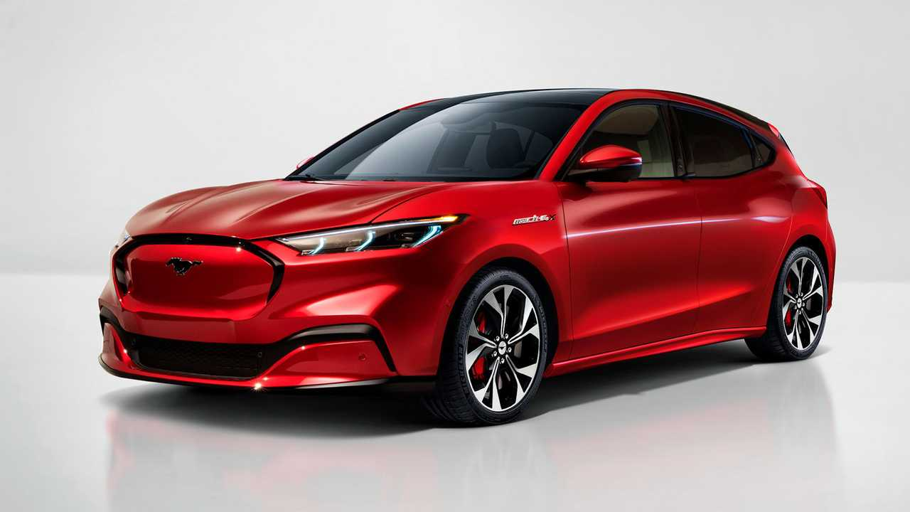 Ford Mustang Mach-E Ferdehátú renderelés