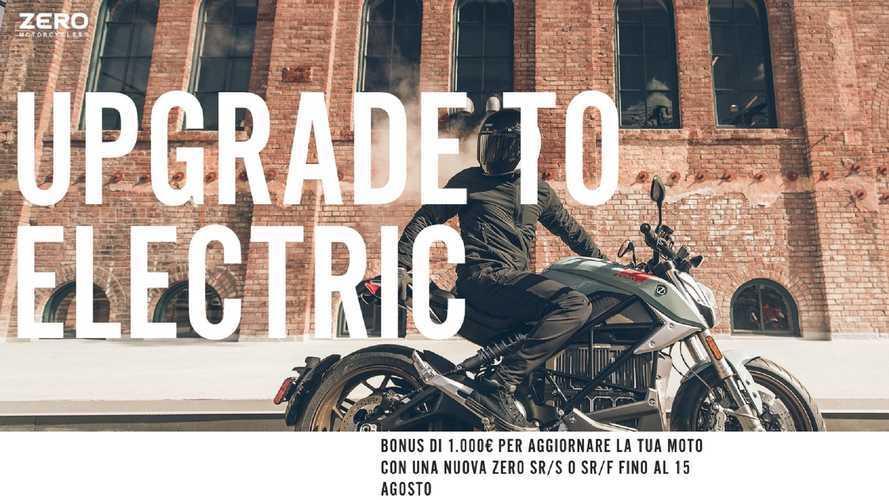 Zero Motorcycles, 1.000 euro di sconto per chi passa all'elettrico