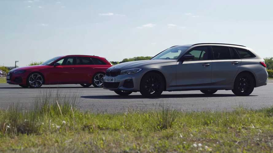 Audi RS4 and BMW M340i meet in fast estate drag race