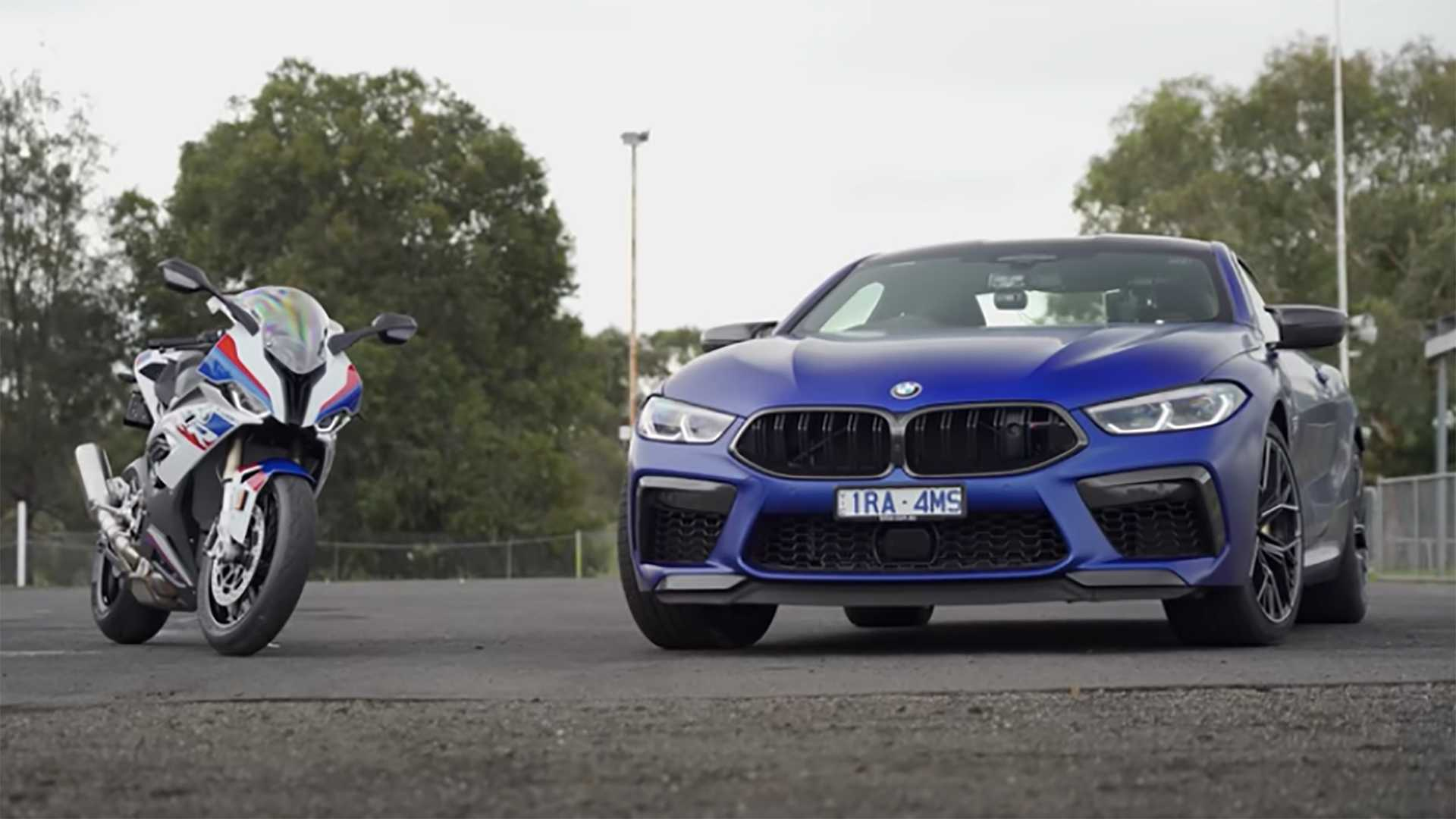 Bmw S1000rr Takes On M8 Competition On The Drag Strip