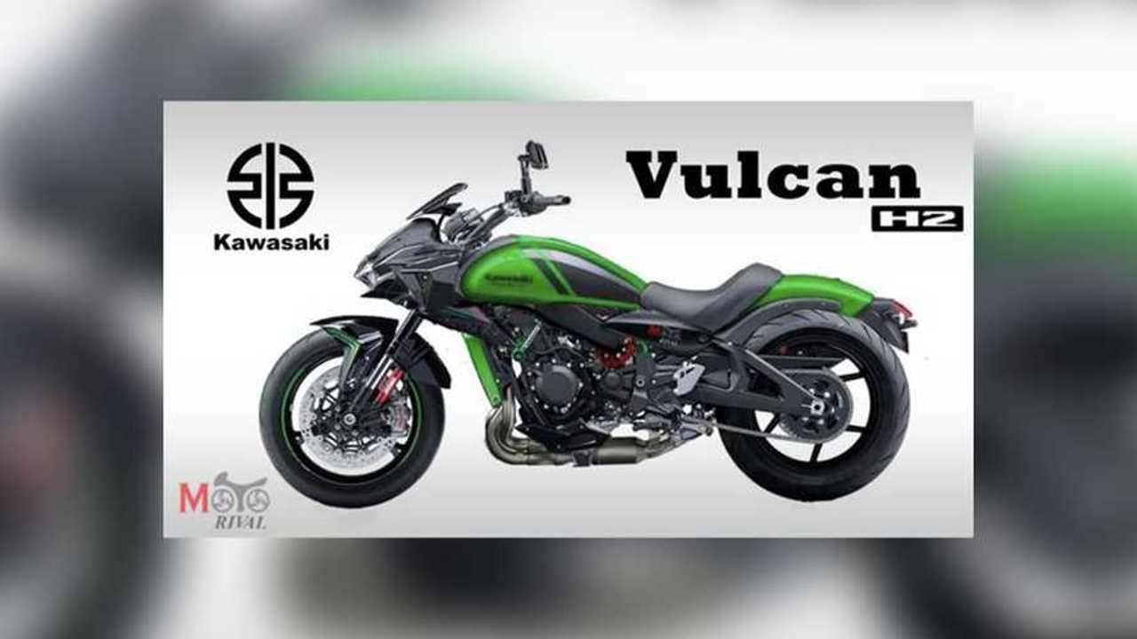 Kawasaki Vulcan H2 Render