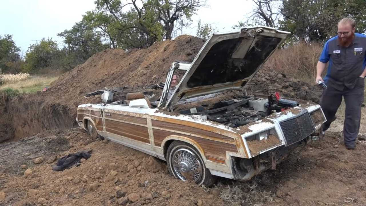Hated classic car is buried alive and dug back up again