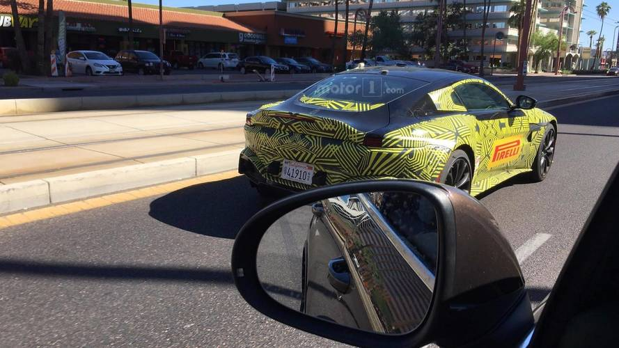 2018 Aston Martin Vantage spotted by Motor1 reader