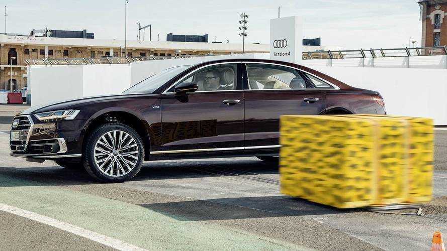 Audi A8 2018 pre-sense side