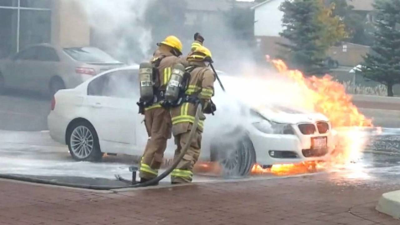 BMW incendie