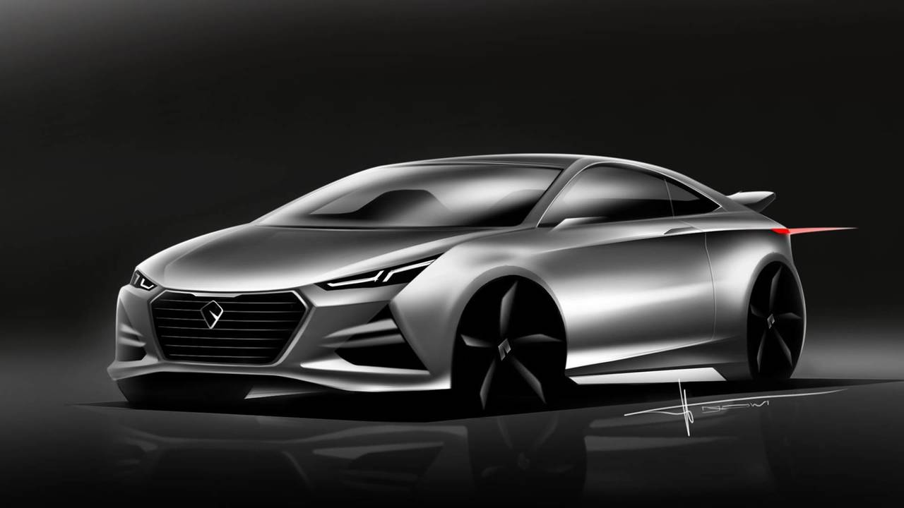 Sports coupe rendering