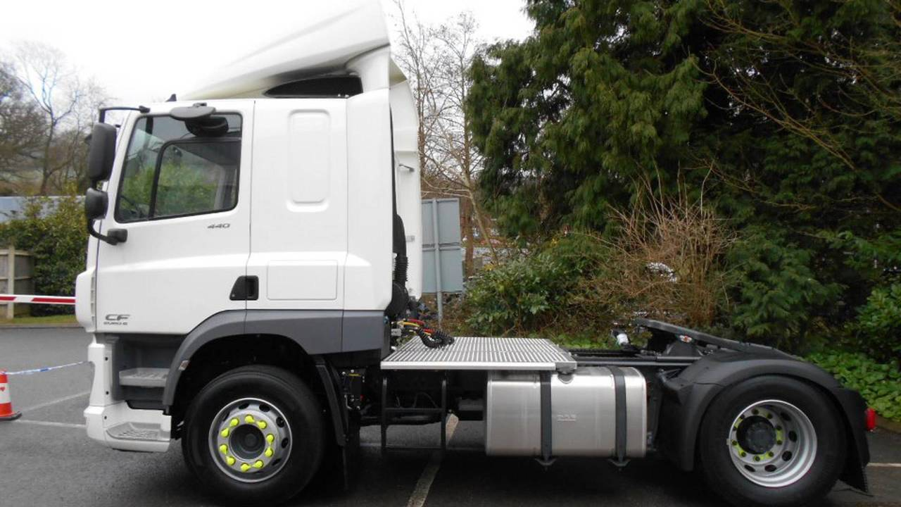 Unmarked police lorry