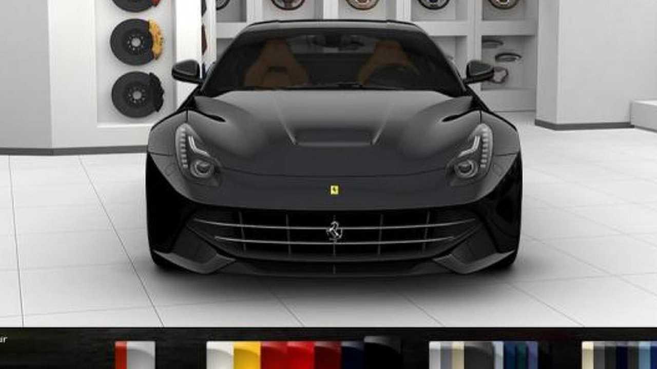 Ferrari F12 berlinetta configurator screenshot, 952, 29.02.2012