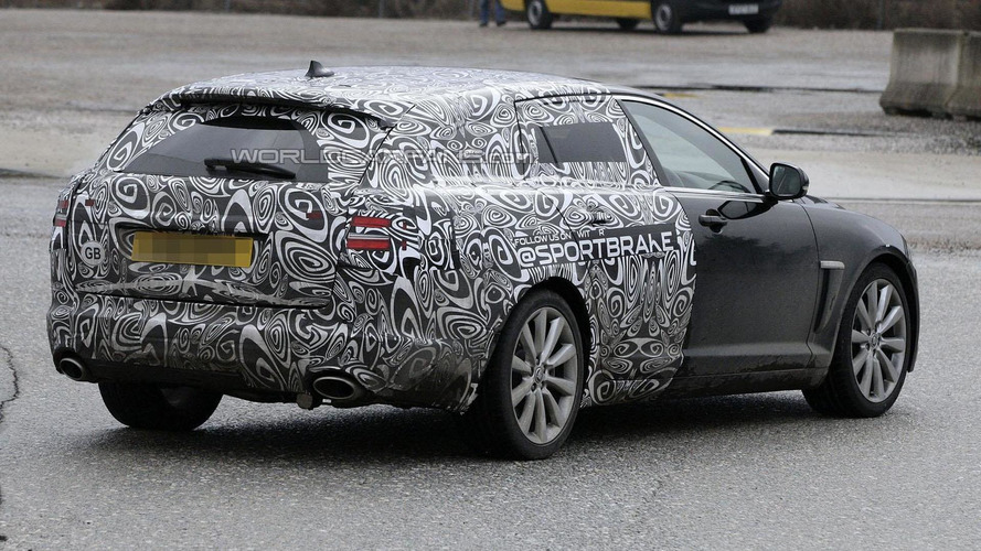 2012 Jaguar XF Sportbrake spied yet again