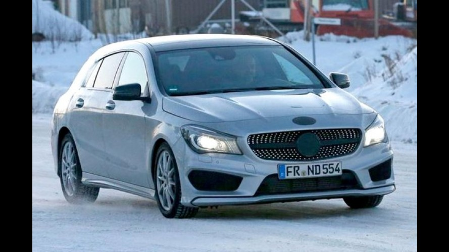 Mercedes CLA Shooting Brake é flagrada com pouco disfarce na Europa