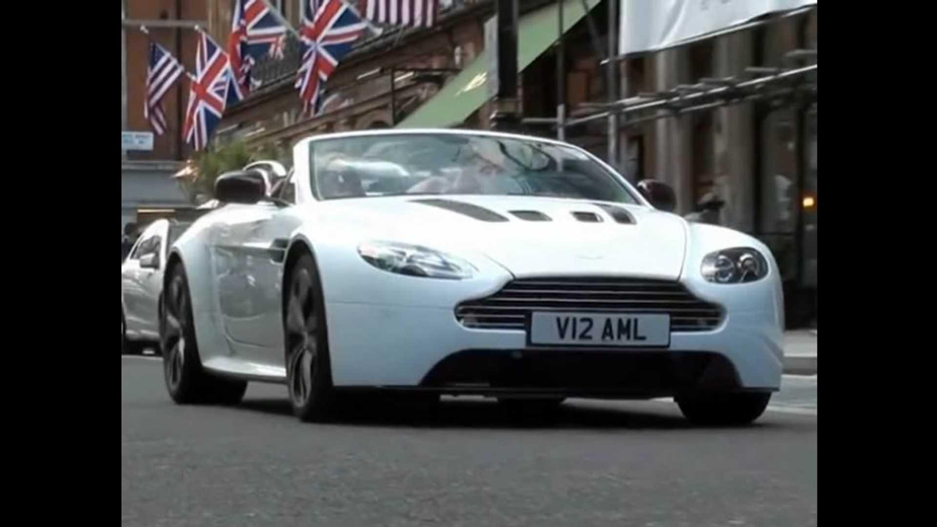 Video Aston Martin V12 Vantage Roadster E Revelado Nas Ruas De Londres