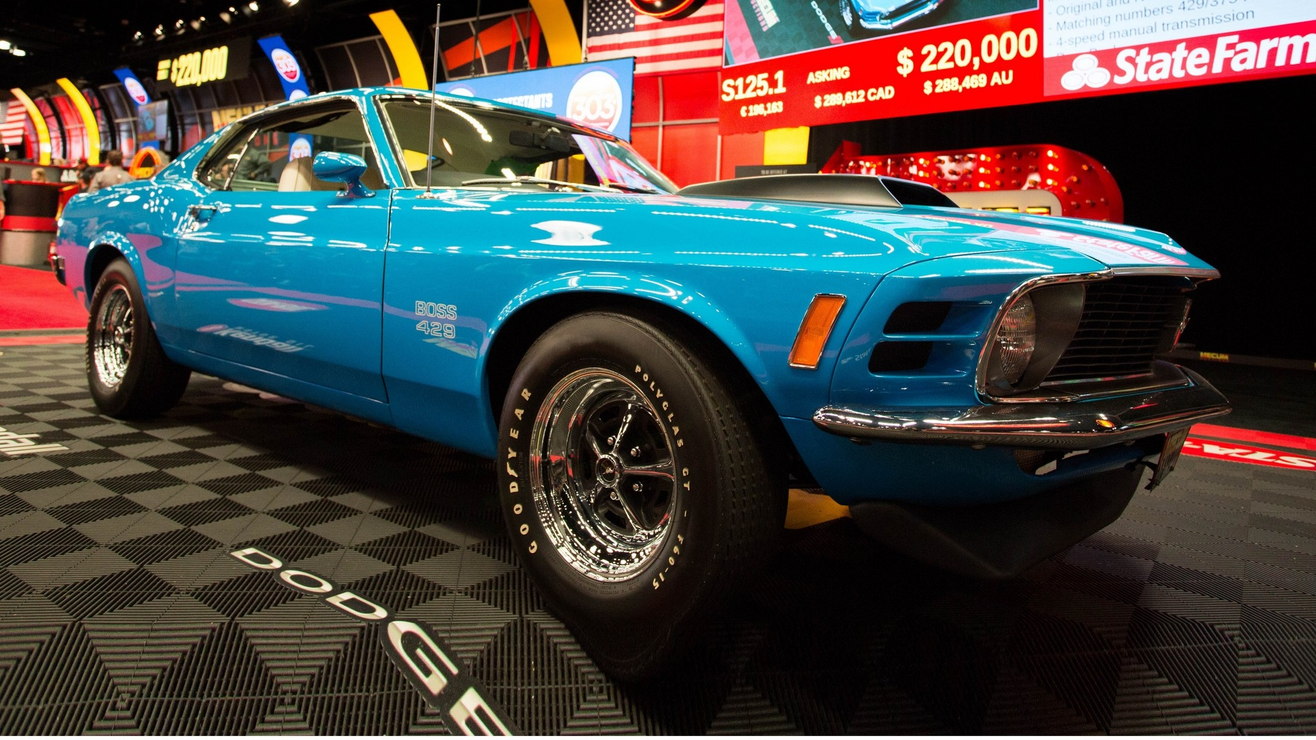 1970 Ford Mustang Boss 429 Fastback auctioned for $245 000