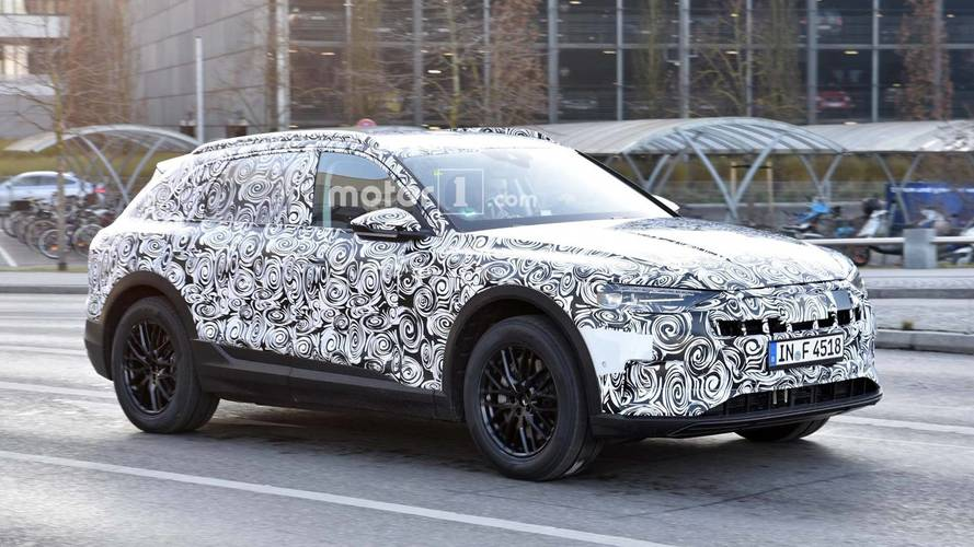 Audi E-Tron Quattro electric SUV spotted out testing