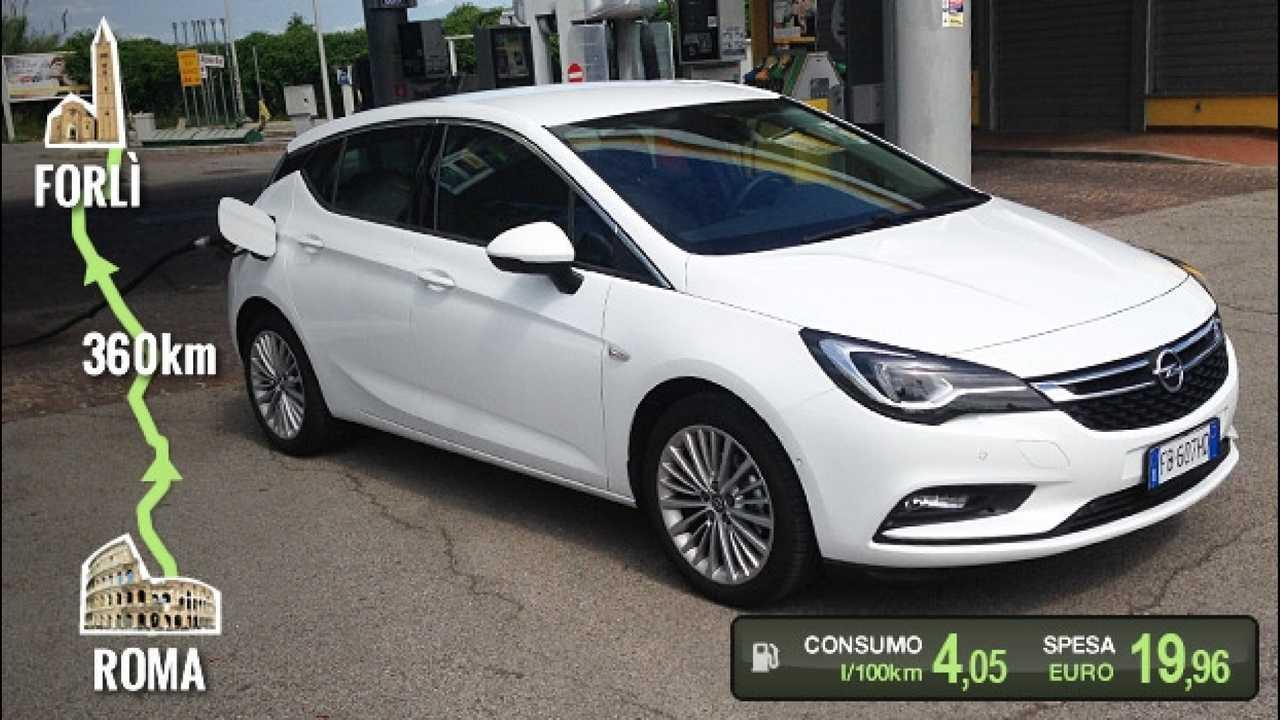 [Copertina] - Opel Astra 1.0, la prova dei consumi reali