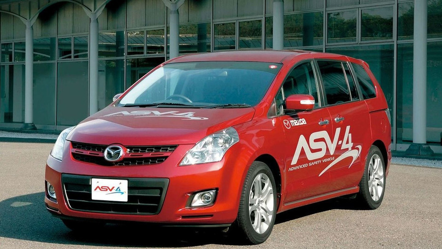 Mazda ASV-4 Advanced Safety Vehicle On Public Road Trials