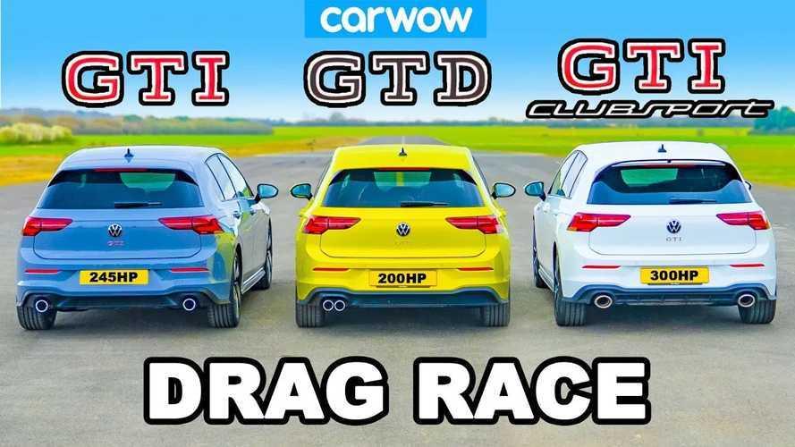 Drag Race Tiga Volkswagen Golf Kasta Tertinggi, Hasilnya Ketahuan