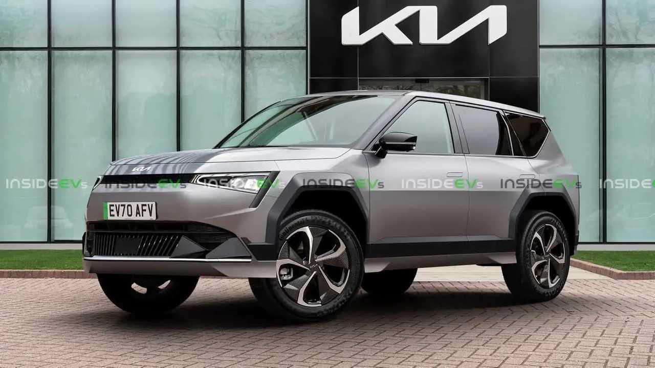2023 Kia EV7 Larger EV SUV Rendered Based On Teaser