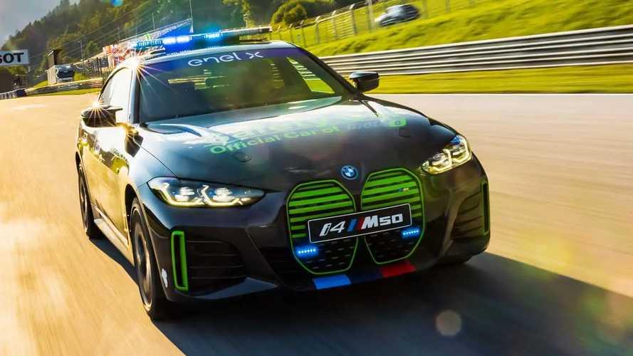 BMW i4 M50 Safety Car al GP d'Austria MotoE 2021
