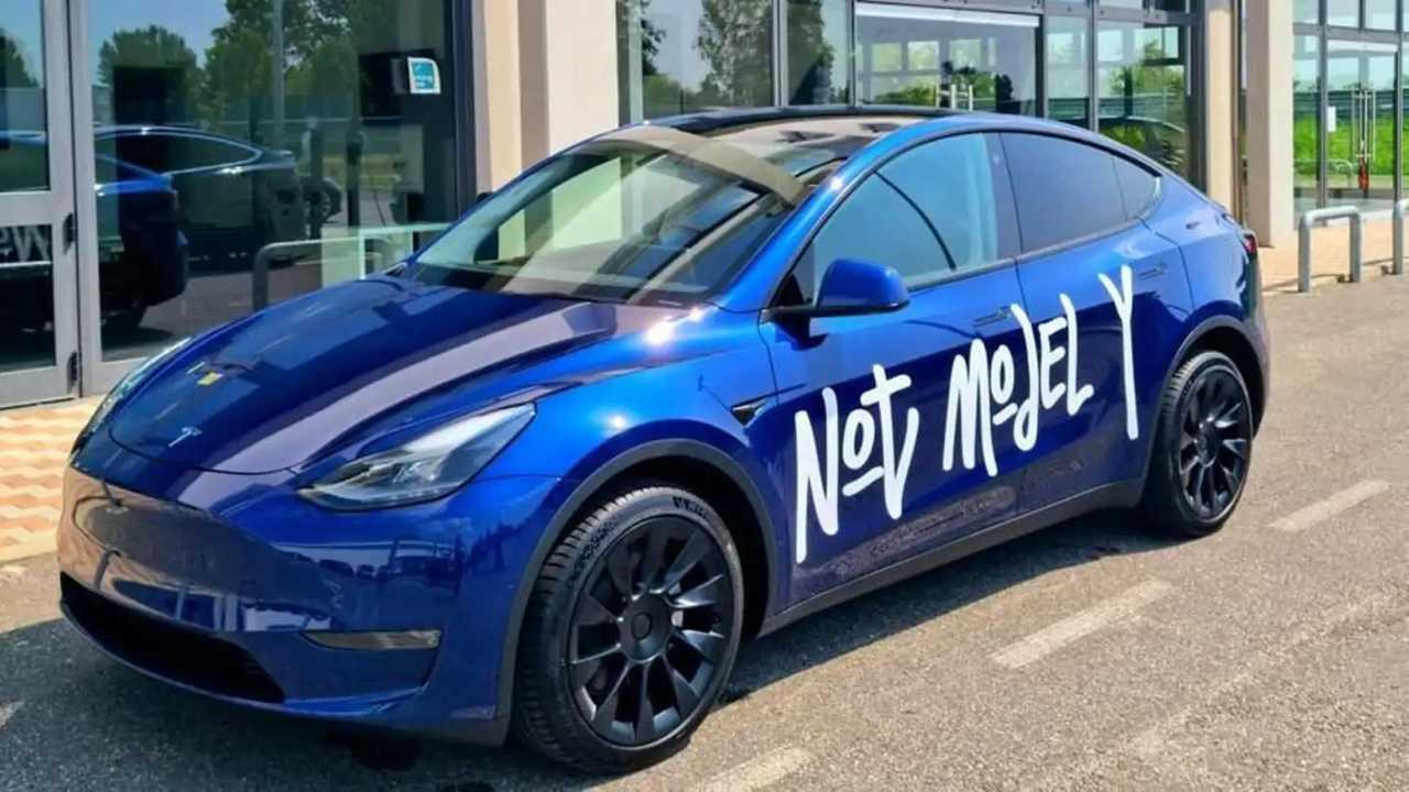 La Tesla Model Y a MIlano