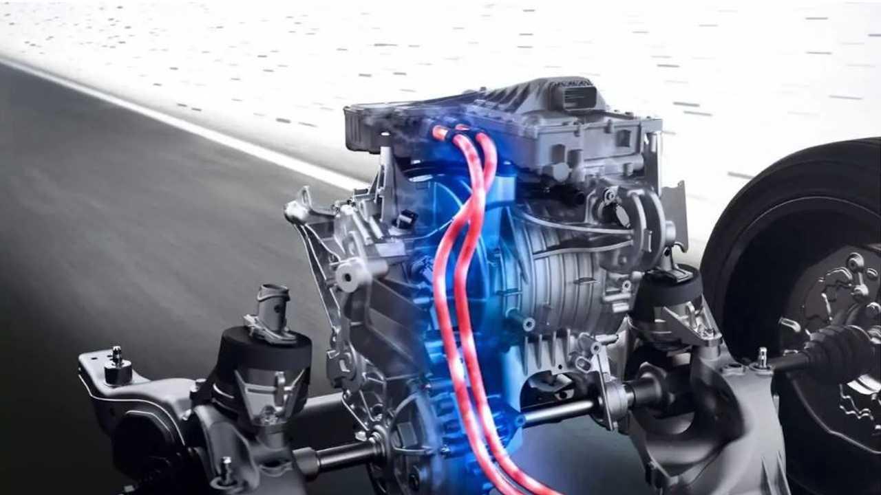 Lo spaccato tecnico di uno schema propulsivo elettrico di Mercedes