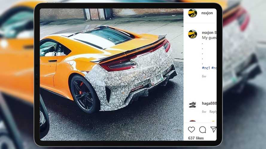 Acura NSX Spy Shots Show A Modest Facelift Is Finally In The Works