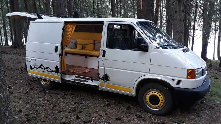 Neat VW Transporter Is Homemade Camper Van On A Budget