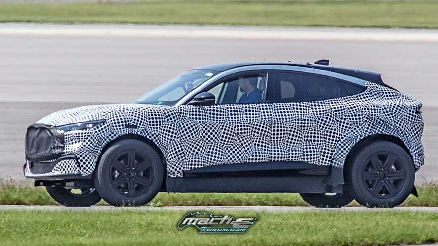 What is Ford testing with this tall, widened Mach-E under camo?