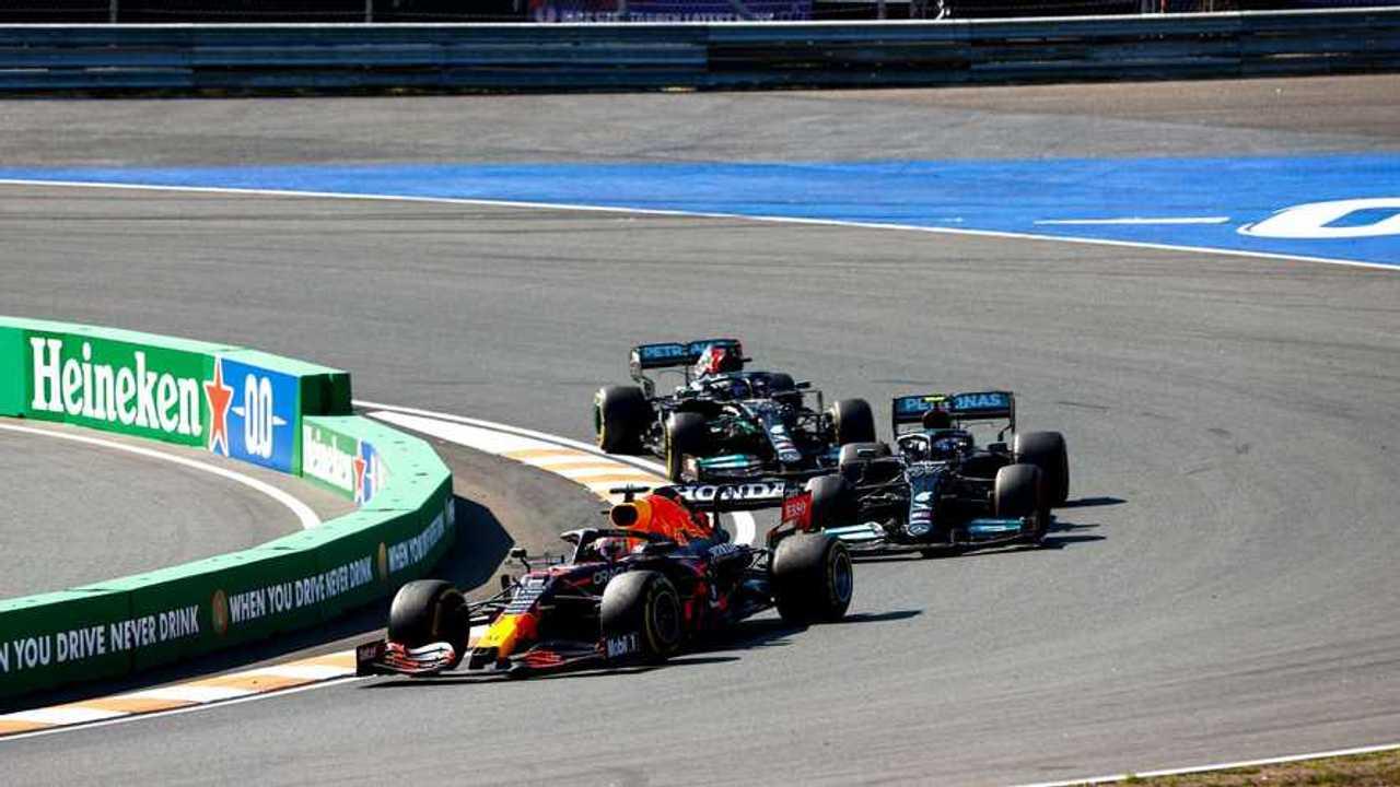 Max Verstappen leads at Dutch GP 2021
