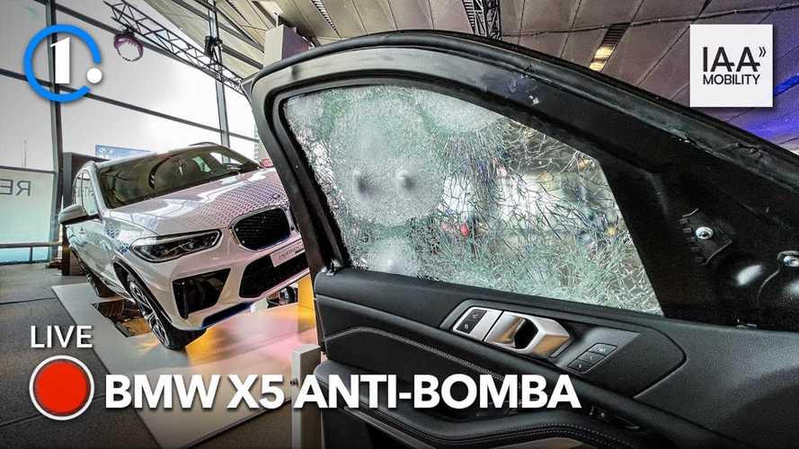 Incredibile la BMW anti proiettile al Salone di Monaco. Video