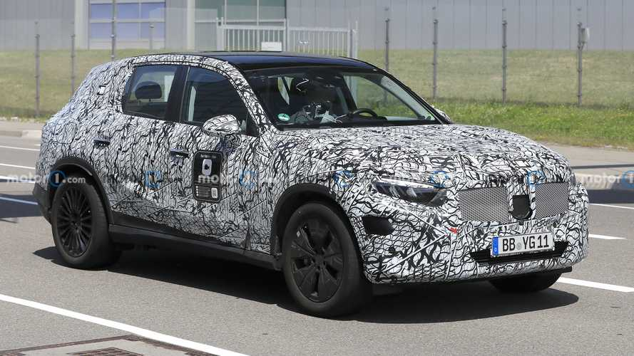 New Mercedes GLC Spied With Production Headlights And Taillights