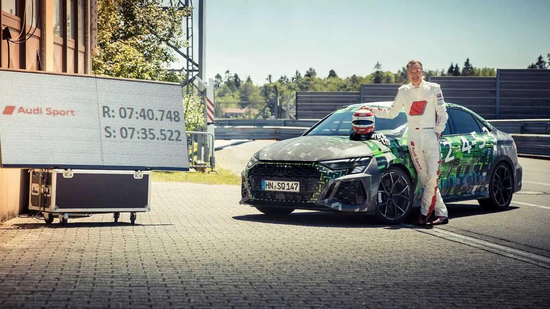 Audi RS3 Sedan sets Nürburgring lap record for compact cars