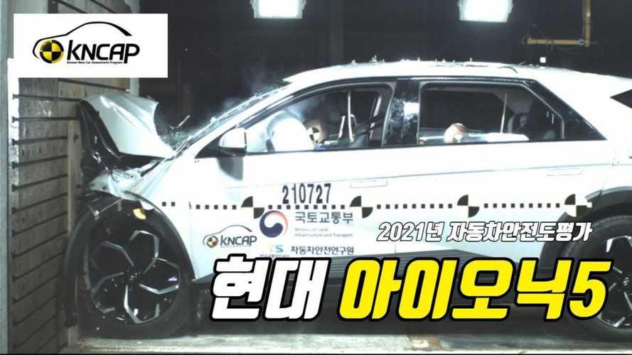 Watch Hyundai Ioniq 5's First Crash Tests By Korea's KNCAP