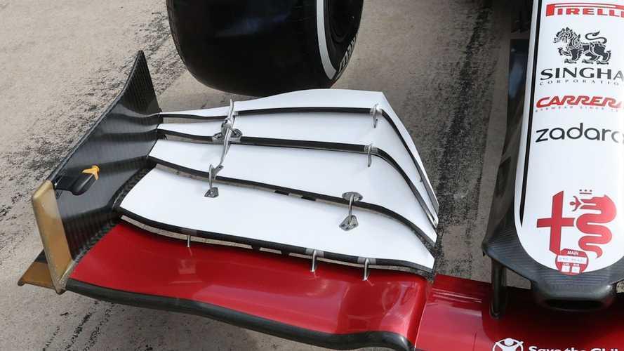 F1, Alfa Romeo: c'è un inedito flap dell'ala anteriore