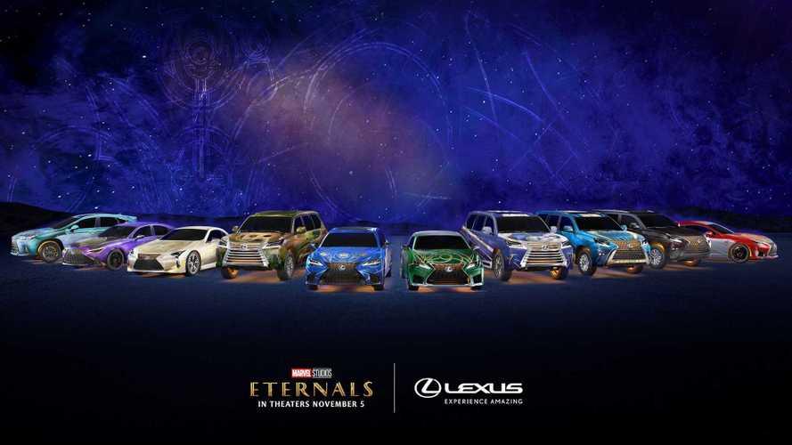 "Lexus, 10 modelli per promuovere il film Marvel ""Eternals"""