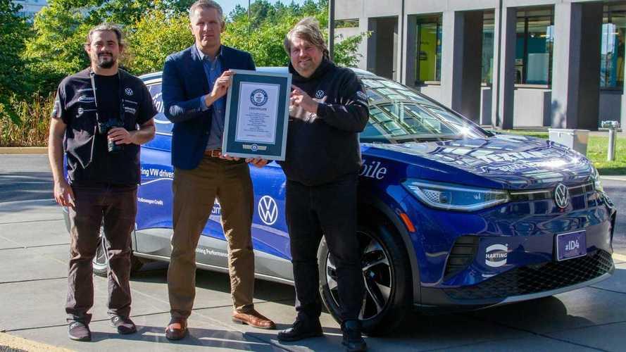 VW ID.4 попал в Книгу Гиннесса, проведя в дороге почти 100 дней