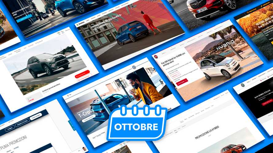 Promozioni auto, tutte le offerte di ottobre 2021