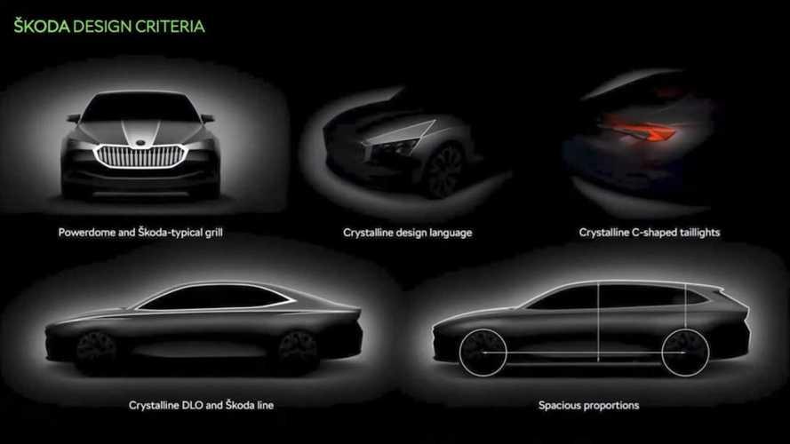 Новая Skoda Superb: посмотрите на первые скетчи и первый «мул»