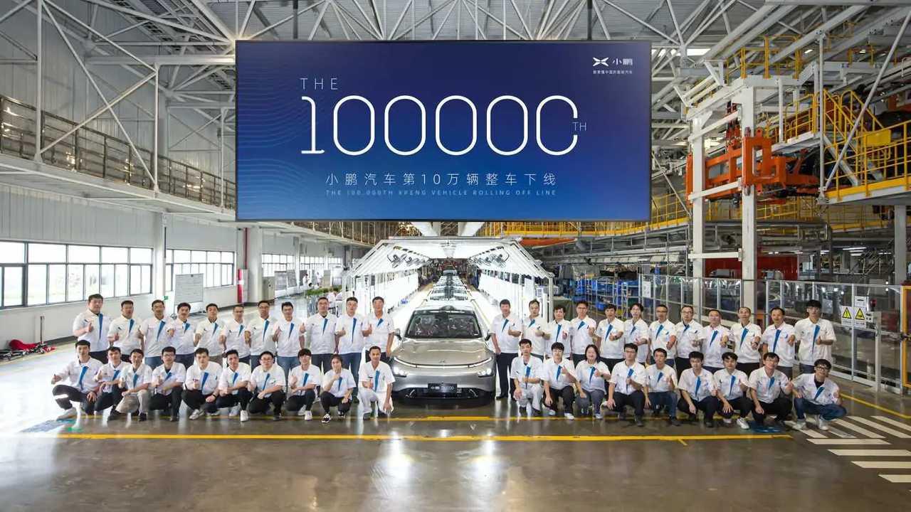 XPeng rayakan produksi EV ke-100.000.