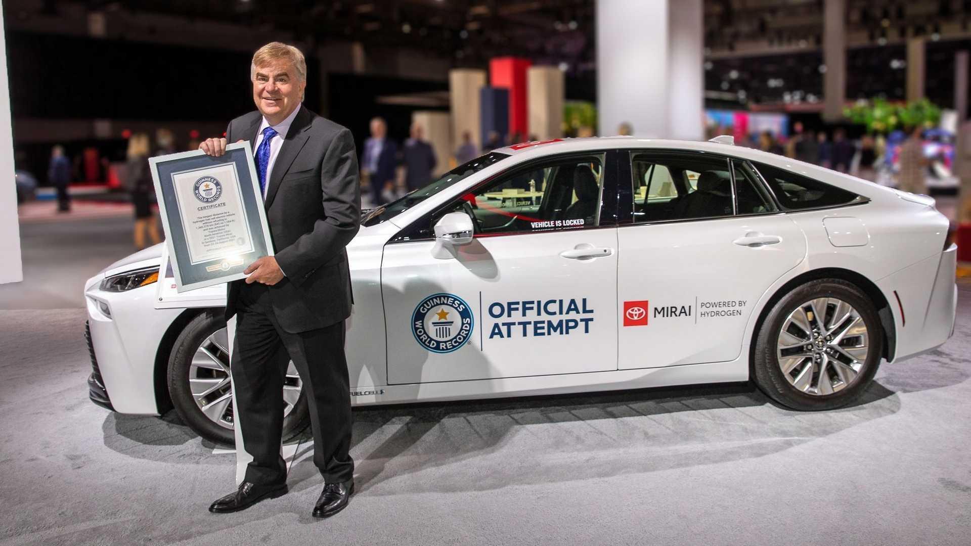 Toyota Mirai Sets Guinness World Record: 845 Miles On Hydrogen