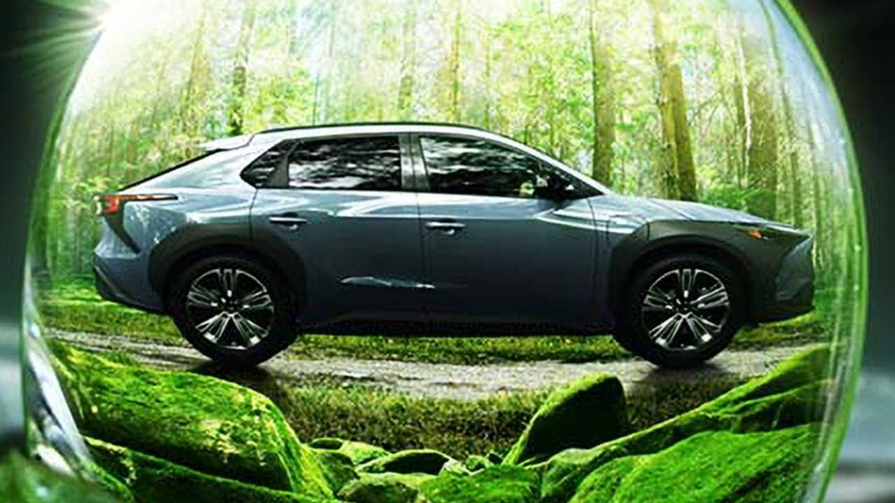 Gambar teaser Subaru Solterra 2023.