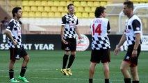 Sergio Perez; Jules Bianchi and Fernando Alonso at the charity football match 20.05.2014 Monaco Grand Prix