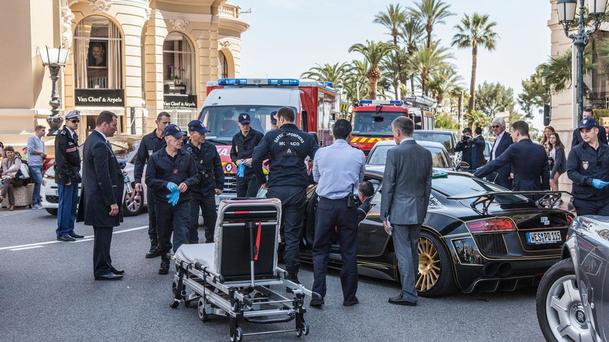 Prior Design Audi R8 gets damaged during botched rescue