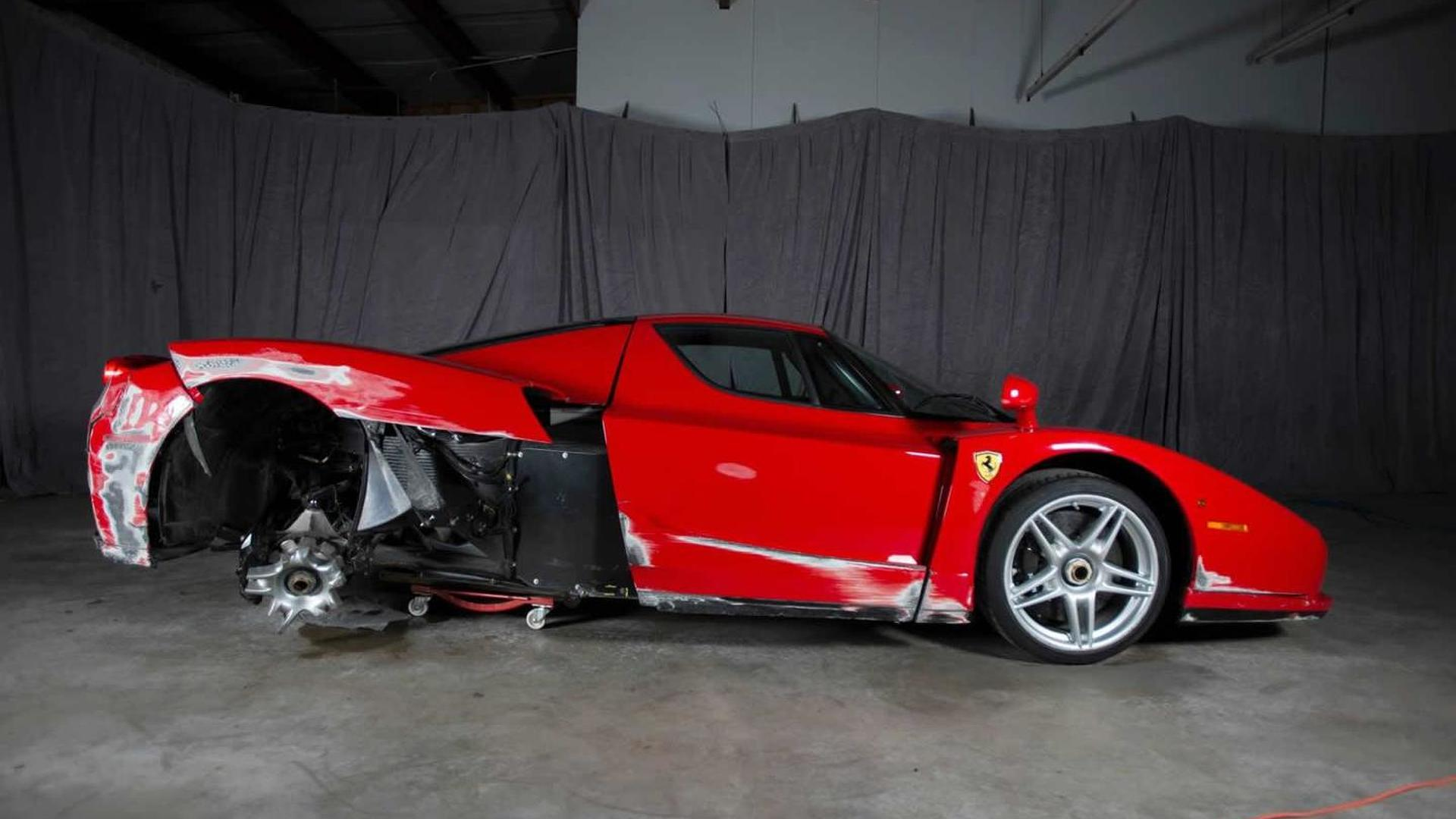 damaged 2003 ferrari enzo being auctioned online, currently at