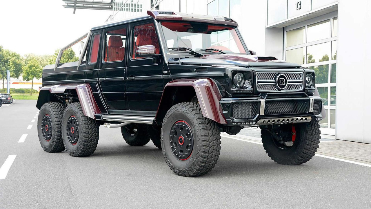 Brabus Makes Mercedes Benz G63 Amg 6x6 Even More Outlandish With Red Carbon